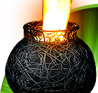 Silk Flame Lamps