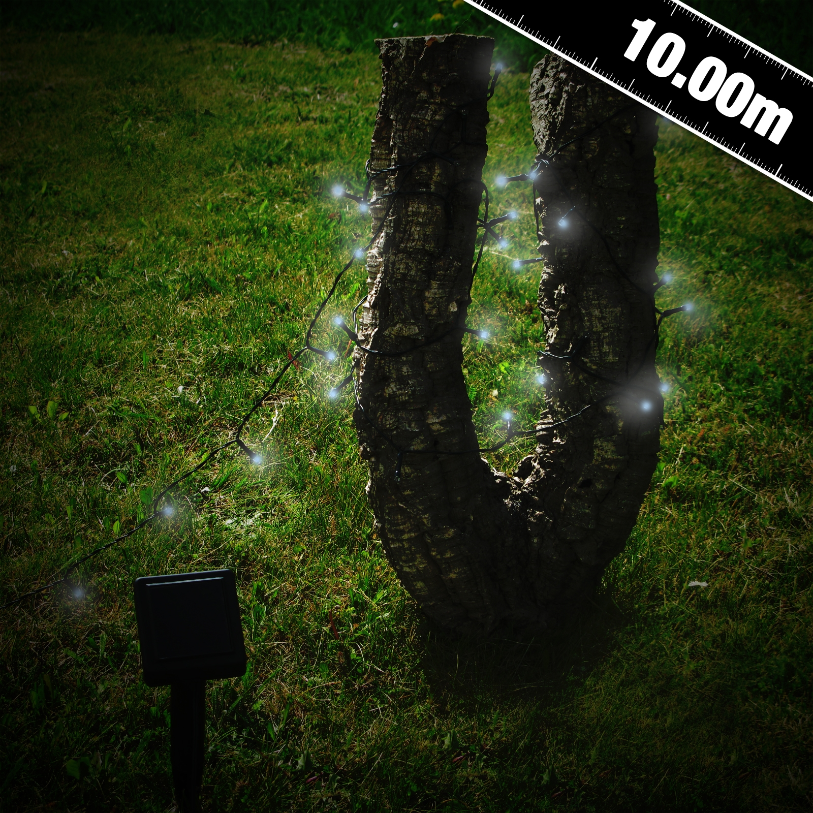 Click to view product details and reviews for 100 White Led Solar Stringlights.