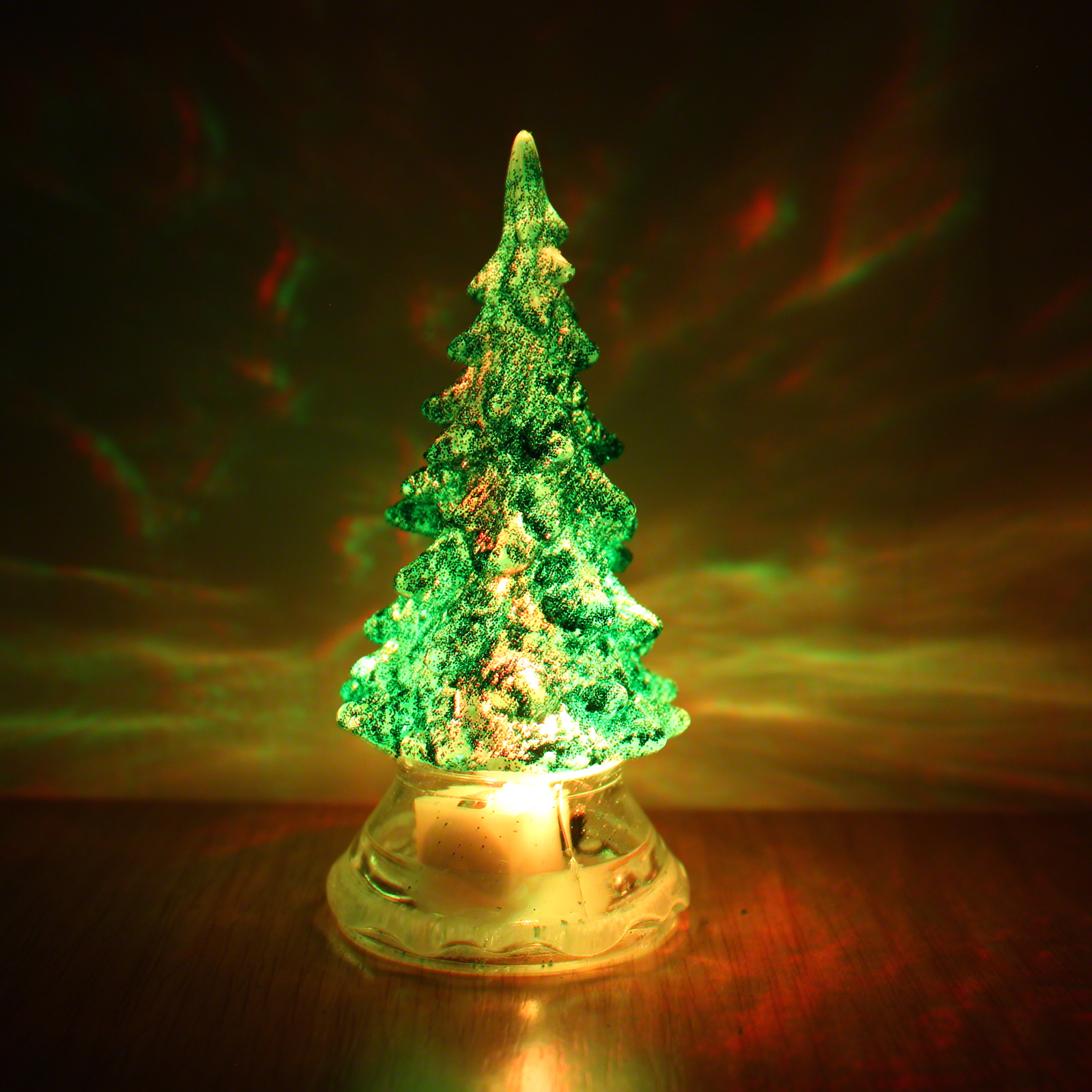 Image of 10cm Colour Change Crystal Christmas Tree
