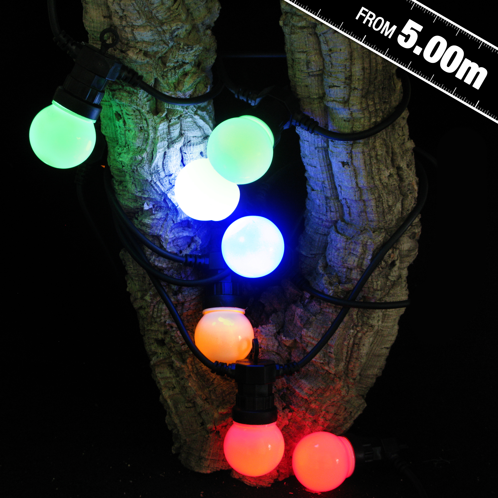 Click to view product details and reviews for Multi Coloured Connectable Festoon Lights.