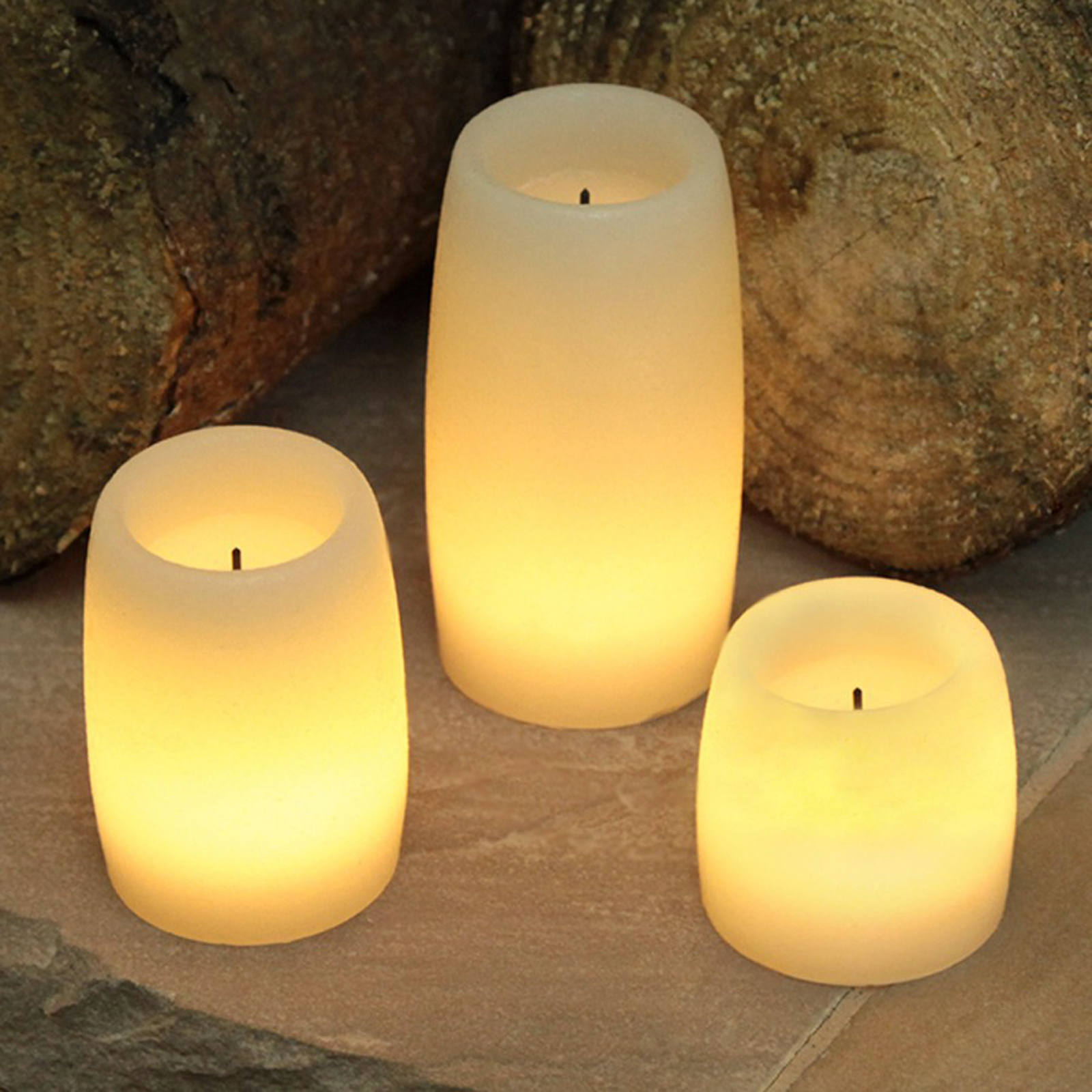 Click to view product details and reviews for 3 Led Round Wax Candles.
