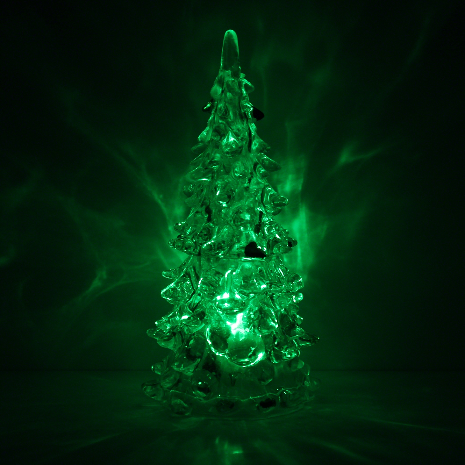 "5"" Clear Crystal Colour Changing Xmas Tree"