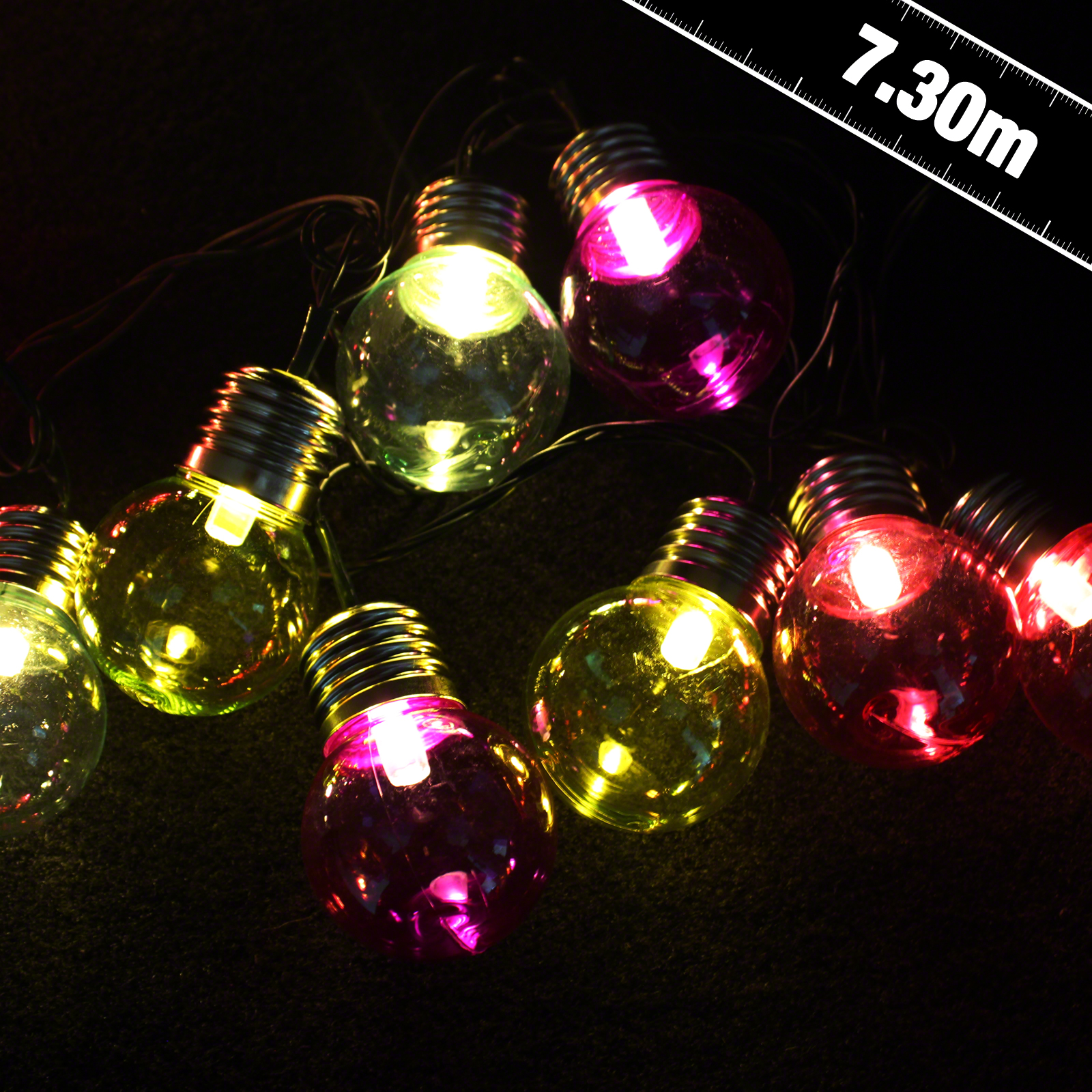 Click to view product details and reviews for 50 Led Multi Coloured Retro Lights.