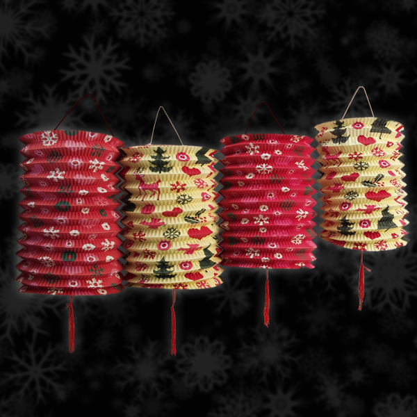 Click to view product details and reviews for 1950s Christmas Paper Lanterns 5 Pack.