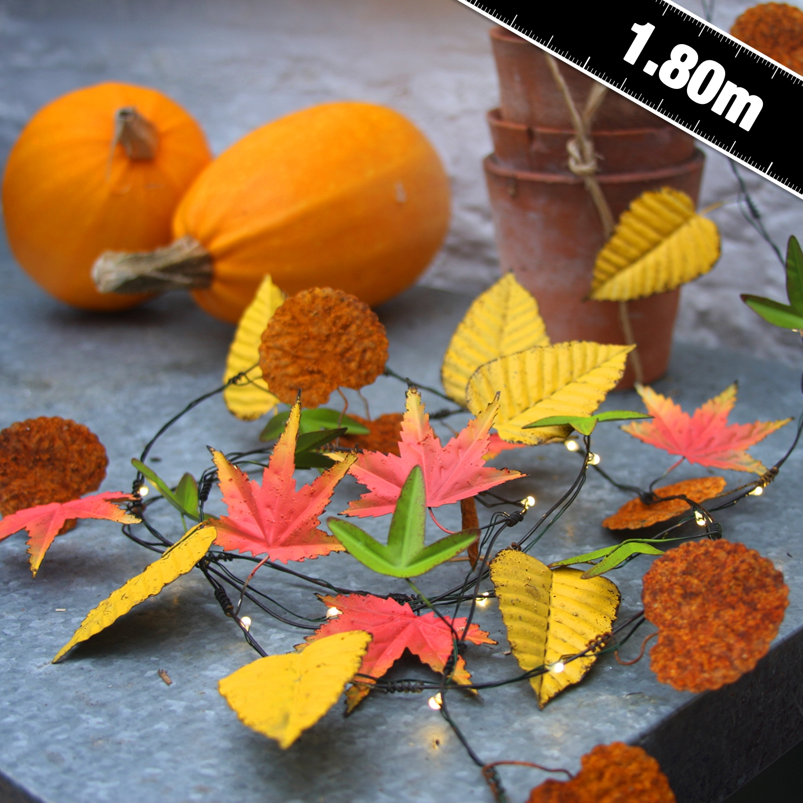 Autumn Leaves Metal Floral String