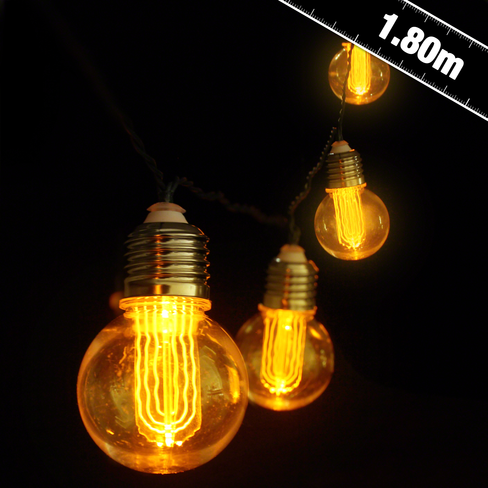 Battery Operated Nostalgia Bulb String Lights Party