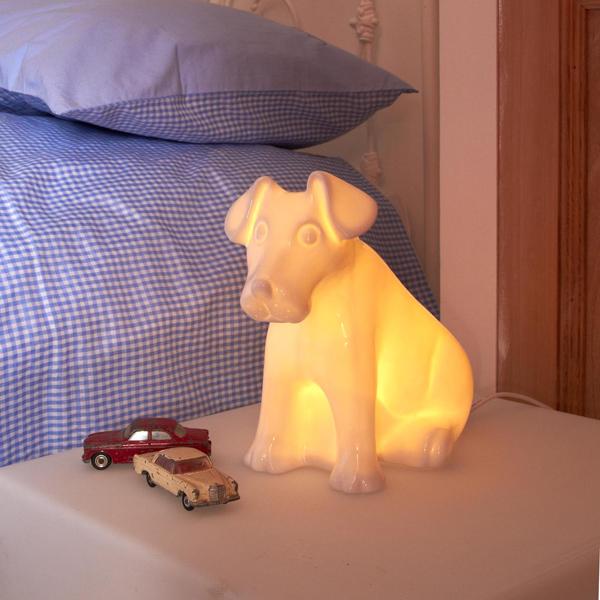 Bone China Dog Lamp