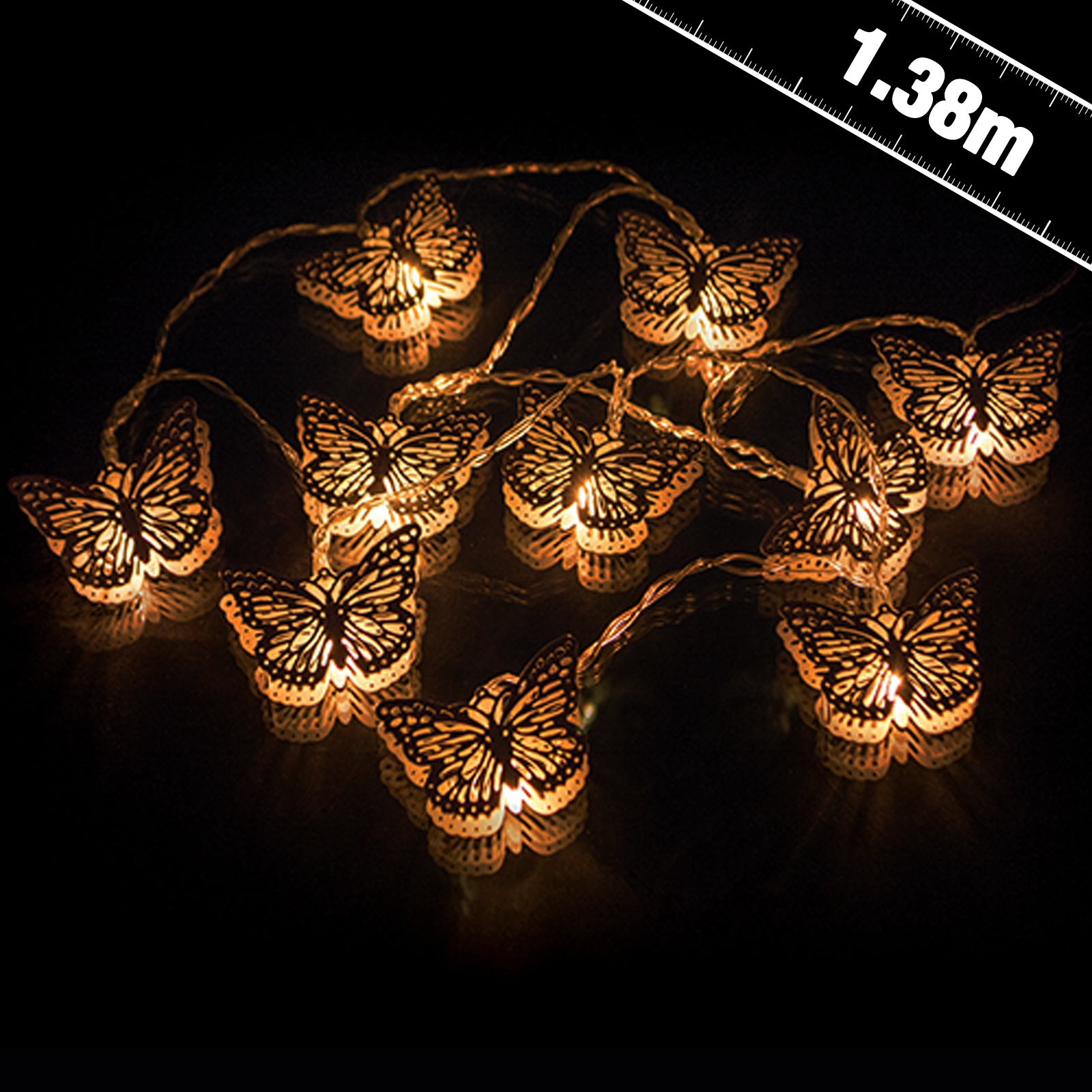 Click to view product details and reviews for Battery Operated Butterfly String Lights.