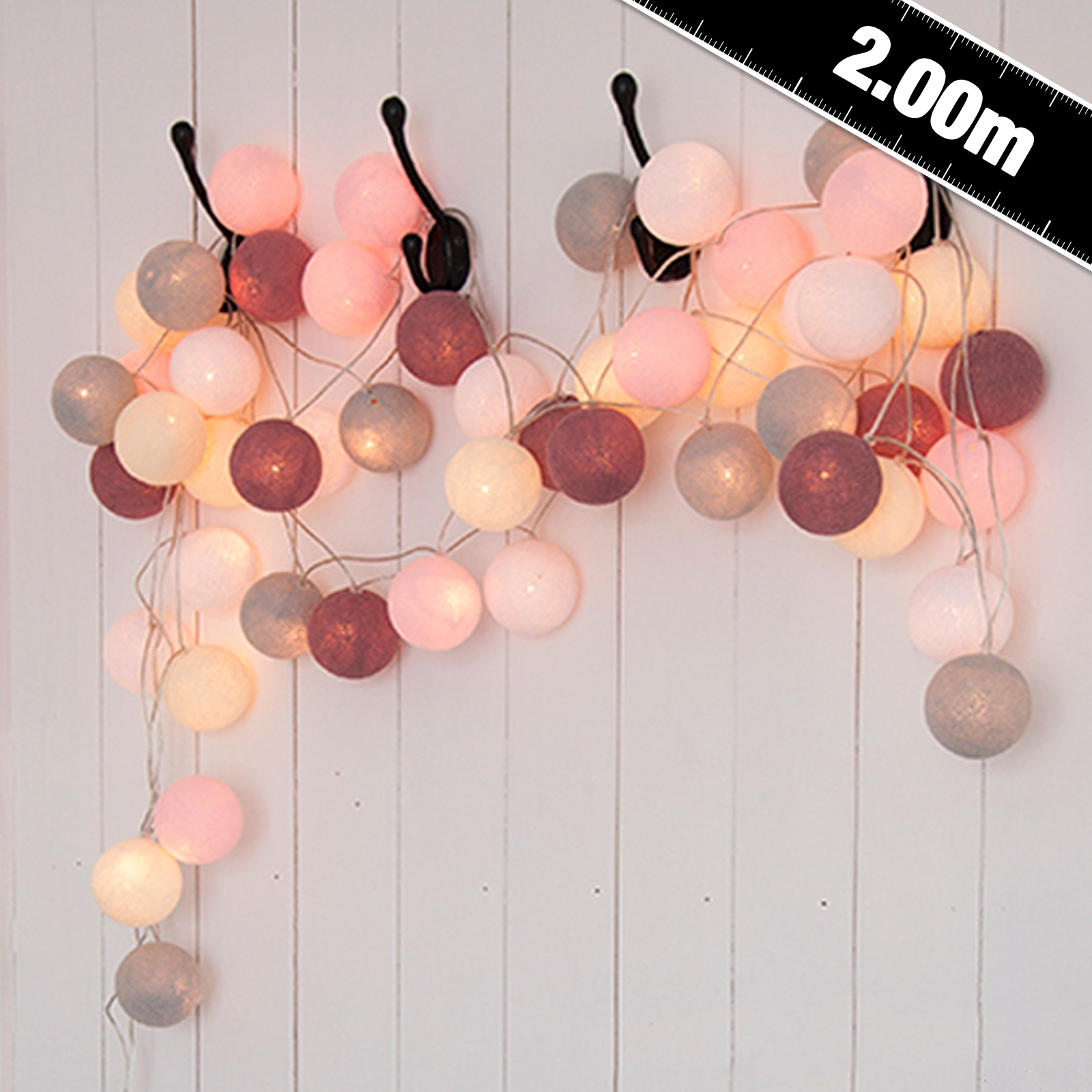 Click to view product details and reviews for Cable And Cotton Marshmallow Fairy Lights 20 Led.