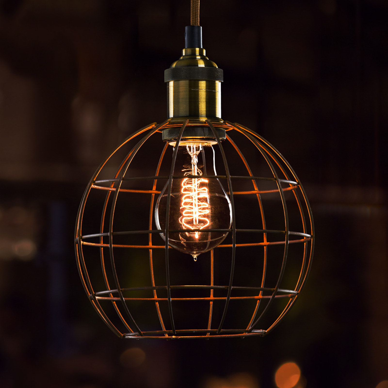 Bulb Cage, Industrial, Vintage