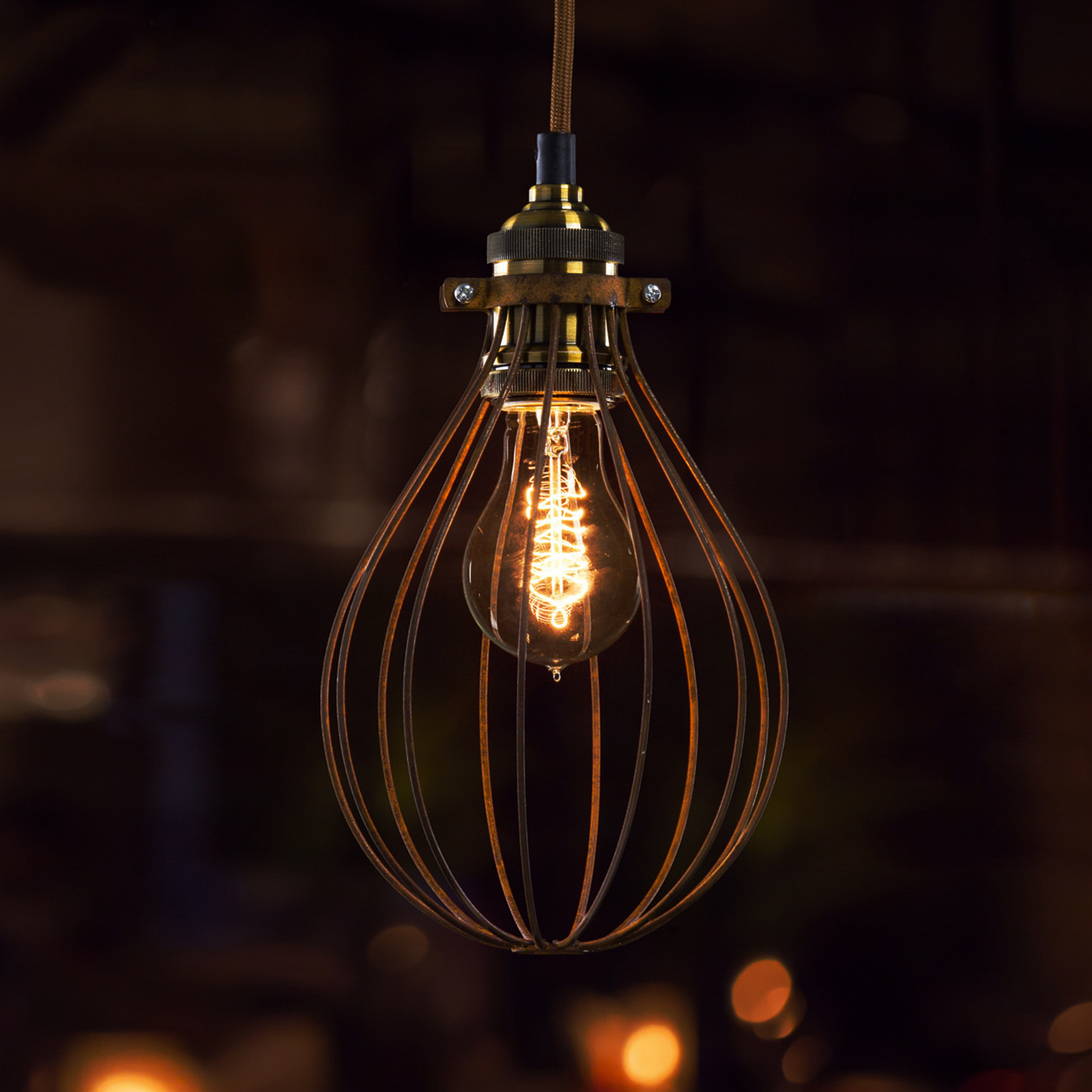 Bulb Cage Light Fittings Bulb Cage Industrial Vintage Lighting Balloon Cy Ebay
