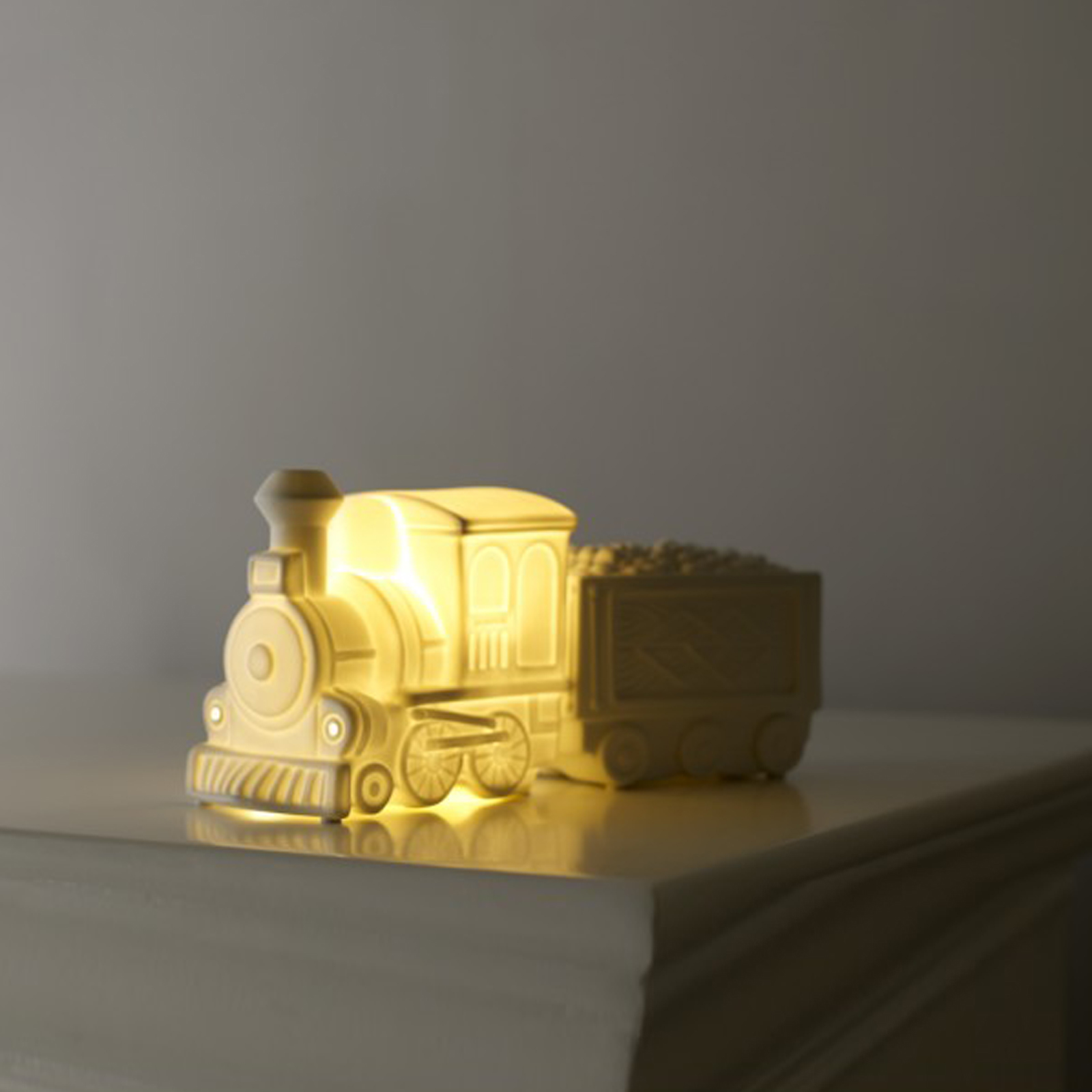 Click to view product details and reviews for Ceramic Vintage Train Light By Sarah Jane.