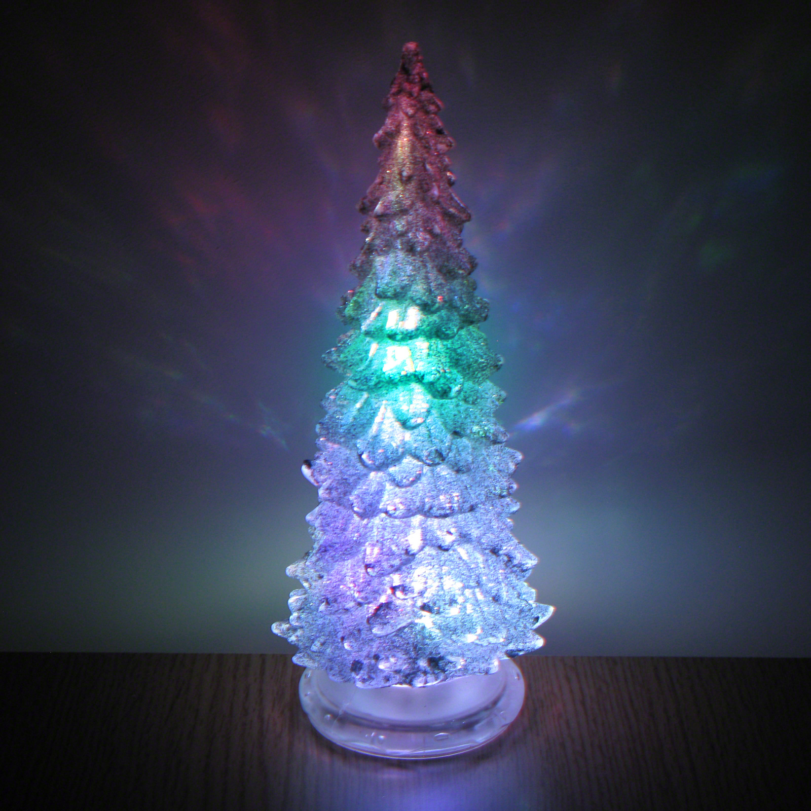 Image of 20cm Colour Change Crystal Christmas Tree