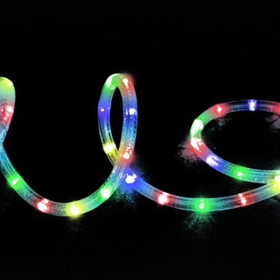 Multicoloured. 9m LED Multi Action Rope Light
