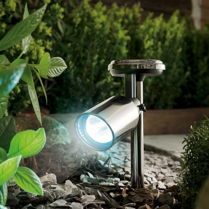Black Nickel Solar Garden Spot Light