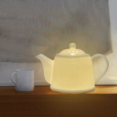 Bone China White Teapot Table Lamp