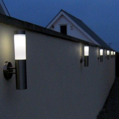 Flush Solar Wall Lights : Canterbury Stainless Steel Solar Wall Light