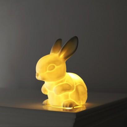 Ceramic Bunny Rabbit Night Light by Sarah Jane:,Lighting