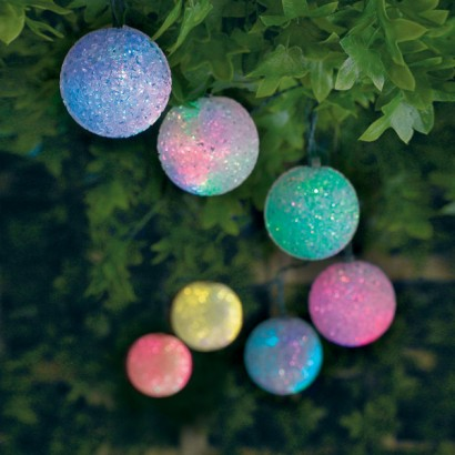 Outdoor Solar Colour Change Ball Stringlights