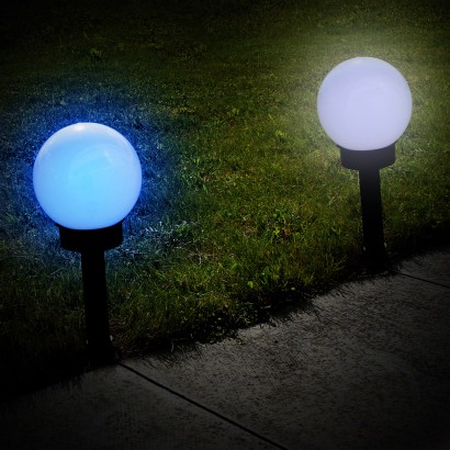Colour changing solar lamp