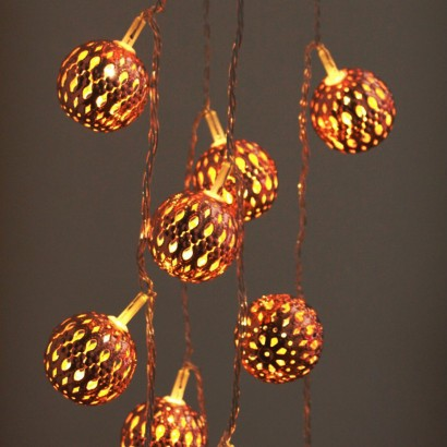 Copper Moroccan Styled LED Lantern Lights