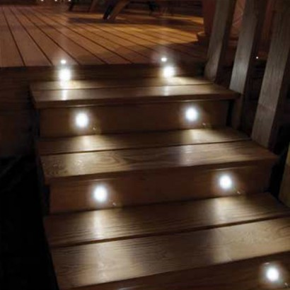 Solar powered balcony lights