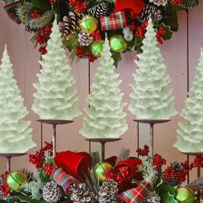 glow in the dark christmas tree candles. Black Bedroom Furniture Sets. Home Design Ideas