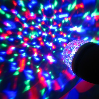 Multi Coloured Kaleidoscope Party Light Bulb