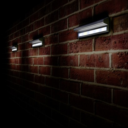 Flush Solar Wall Lights : Kensington Solar Powered Wall Light