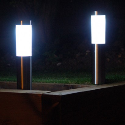 London Stainless Steel Solar Garden Post Lights