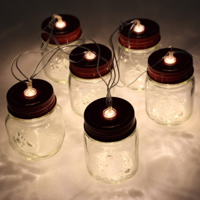 Mini Mason Jar Fairy Lights