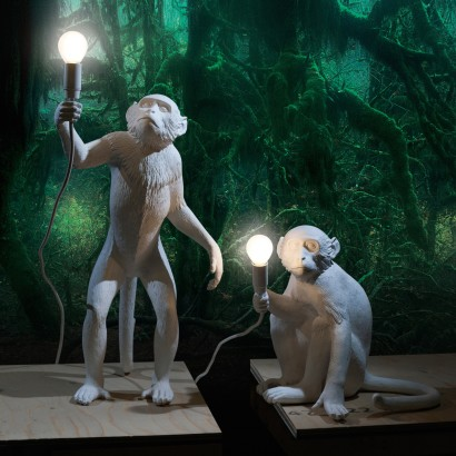 Seletti Monkey Table & Wall Lamps