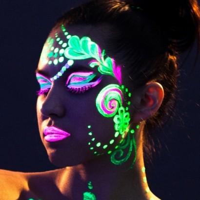uv neon face & body paint set
