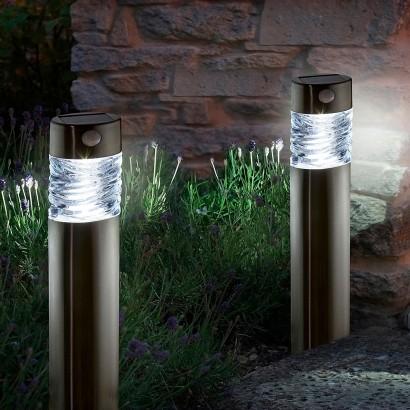 Solar powered motion sensor garden lights - Modern outdoor solar lights ...
