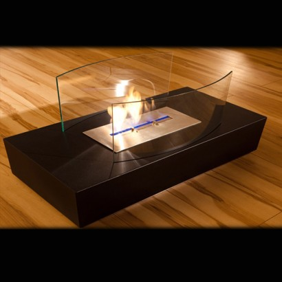 Real Flame Lamp Contemporary Coffee Table