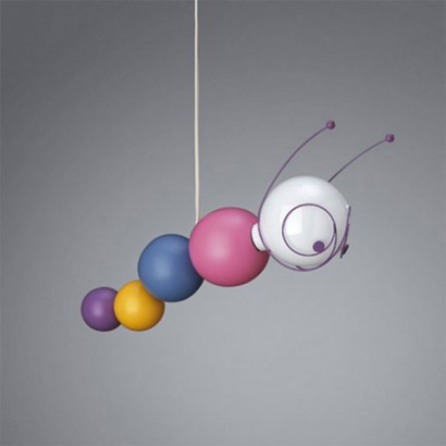 Kico ruby caterpillar childrens ceiling light at the glow company perfect childrens lighting rubys face lights up to with bright light and an even brighter personality aloadofball Images