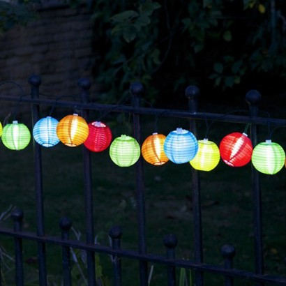 Solar String Lights For Garden : Solar Chinese Lantern Garden Lights