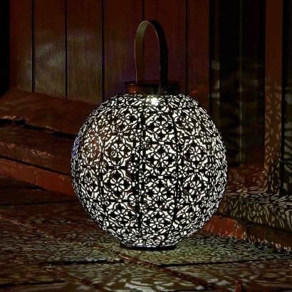 Damasque Decorative Metal Solar Lantern