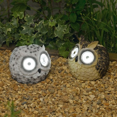 Solar Powered Owl Garden Lights