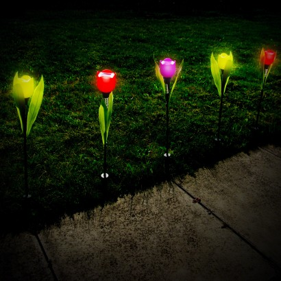 Solar Powered Tulip Garden Lights
