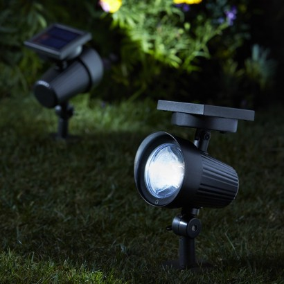 Solar powered ultra bright garden spotlights brighter than standard solar garden lights ultra bright solar spotlights shine 30 lumens of light each making them ideal for security and guidance in your mozeypictures Images