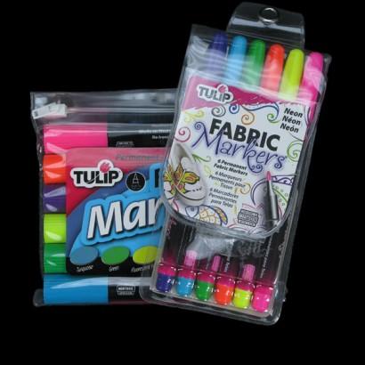 Tulip Permanent UV Reactive Neon Fabric Markers #0: tulip neon fabric marker pens 3