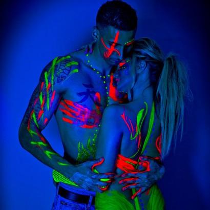 Neon Paint Glow Under Black Light