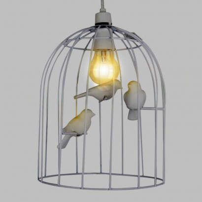 Bird cage light design decoration white birdcage pendant 19002 keyboard keysfo Images