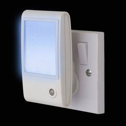 White Sparkle Led Sensor Night Light Plug In