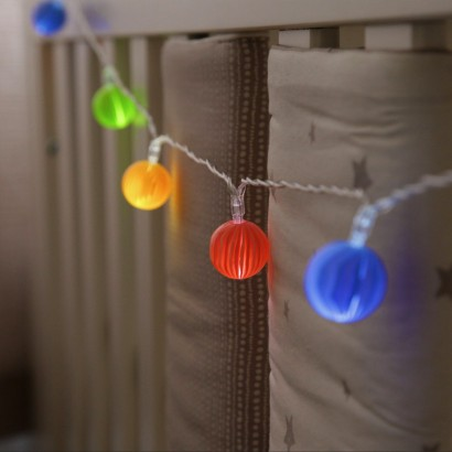Multi Coloured Marble String Lights