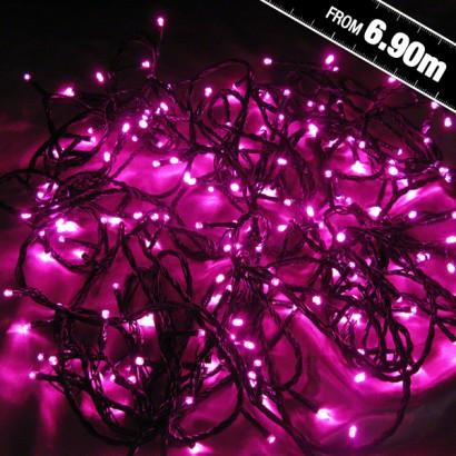 200 Pink Led Chaser String Lights