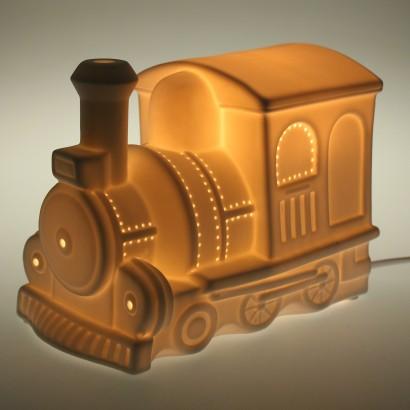 Porcelain Train Night Light
