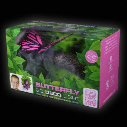 3D Fx Butterfly Deco Wall Light