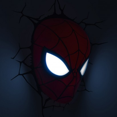 Marvel Wall Lights Spiderman : 3D FX Marvel Wall Lights; Spiderman, Iron Man, Thor, Hulk